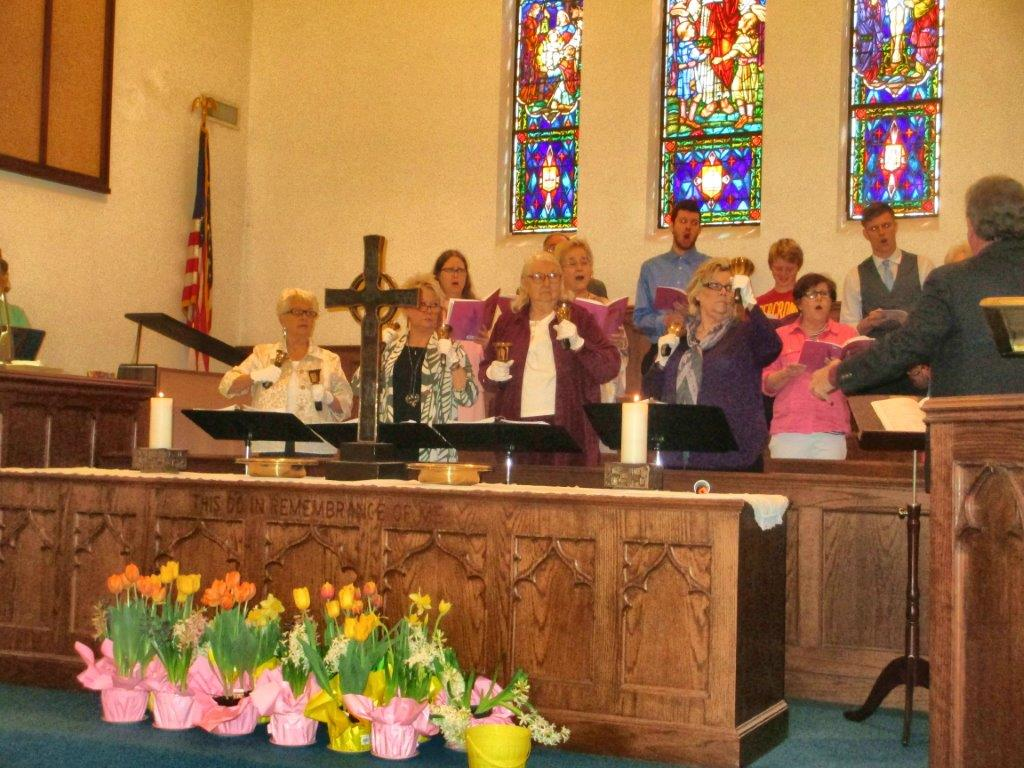 easter worship choir and bells